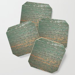 fluid coppered teal Coaster