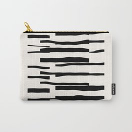 Organic No. 13 Black & Off-White #minimalism #decor #society6 Carry-All Pouch