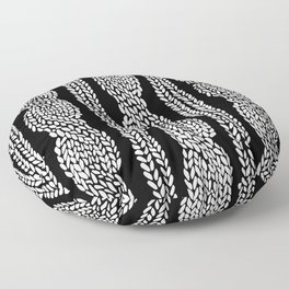 Cable Black Floor Pillow