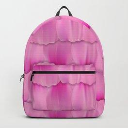 Gentle Pink Purple Flower Petal Pattern Backpack