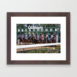 Horse Racing Framed Art Print