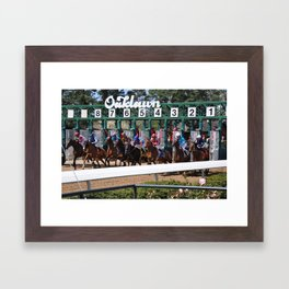 Horse Racing Framed Art Print