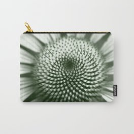 Black and White Flower Core Carry-All Pouch