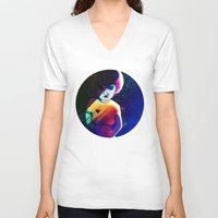 disco V-neck T-shirts featuring Disco by IOSQ