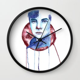 Cold-Blooded Watercolor Painting Wall Clock