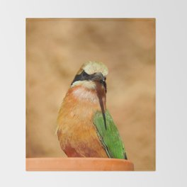 Somali bee-eater Throw Blanket