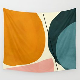 shapes geometric minimal painting abstract Wall Tapestry