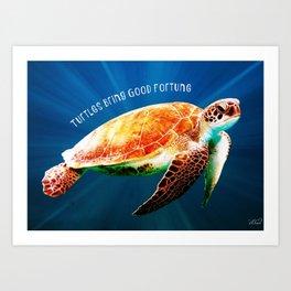 Turtle Good Fortune Spirit Animal Art Print