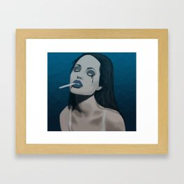 Spooky Angelina Jolie  Framed Art Print