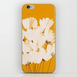 Flowers In Tangerine iPhone Skin