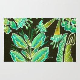 Irish Garden, Lime Green Flowers Dance in Joy Rug