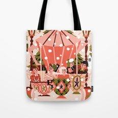 Christmas Coffee Carousel Tote Bag