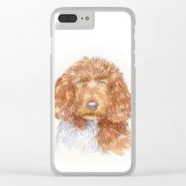 Cockapoo portrait Clear iPhone Case