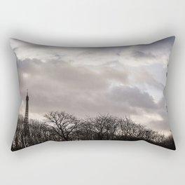 Eiffel tower cloudy day Rectangular Pillow