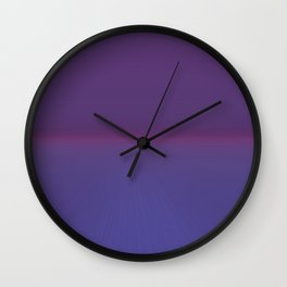 Majestic Royal Purple Hues Wall Clock