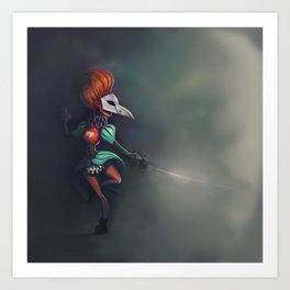 Bird of ill omen Art Print