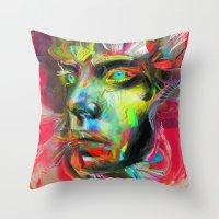 archan nair Throw Pillows featuring Rainscape Rhythm by Archan Nair