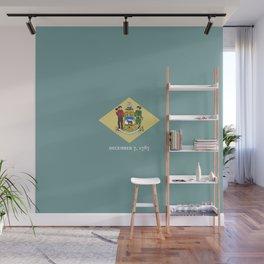 flag delaware,america,usa,Blue Hen,mid-altlantic, Delawarean,Small Wonder,Wilmington,Dover,Newak Wall Mural
