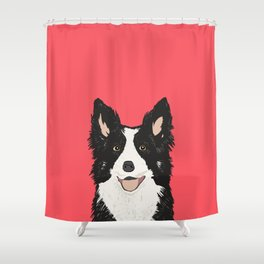Montana - Border Collie gifts for dog people and dog lovers perfect gifts for a dog person.  Shower Curtain