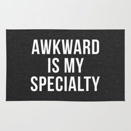 Awkward Specialty Funny Quote Rug