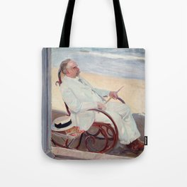 Antonio García at the Beach - Joaquín Sorolla Tote Bag