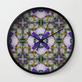 Violet Pinks Wall Clock