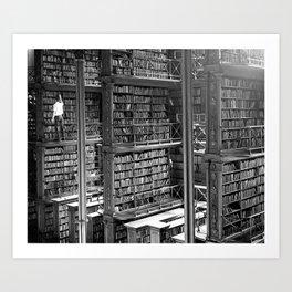 A Book Lover's Dream - Cast-iron Book Alcoves of Old Cincinnati Public Library Art Print