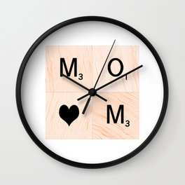Gift for MOM Scrabble Tile Art - Mother's Day Wall Clock