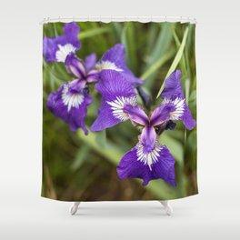Wild Iris Photography Print Shower Curtain