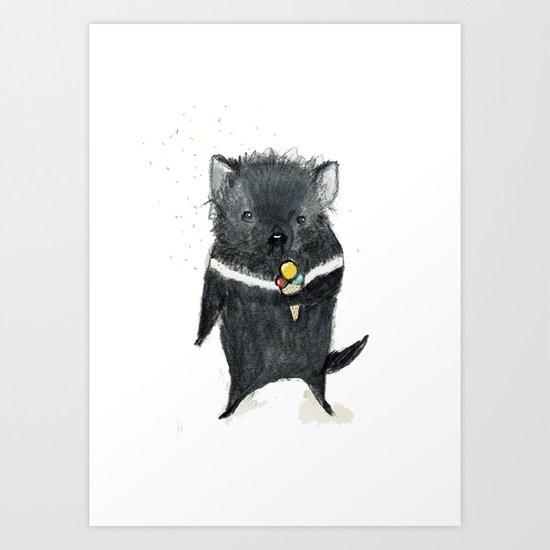 Tasmanian Devil Art Print