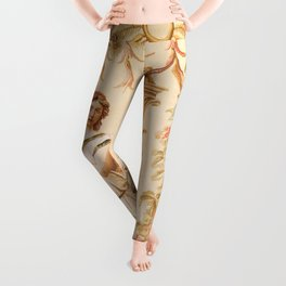 French Aubusson  Antique Tapestry Print Leggings
