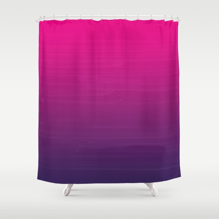 Painted Ombre Grant Fuschia Pink To Violet Purple Shower Curtain