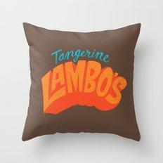 Tangerine Lambo's Throw Pillow