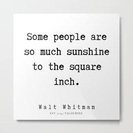 17    | Walt Whitman Quotes | 190803 Metal Print
