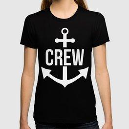 Crew Anchor Sailing Gift Captain Sailing Boat Present T-shirt
