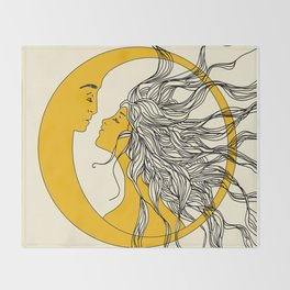 Sun and Moon Throw Blanket