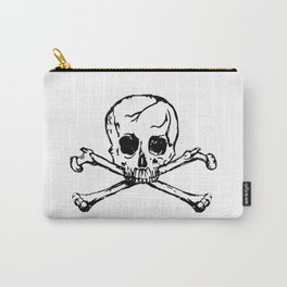 Black Skull Carry-All Pouch