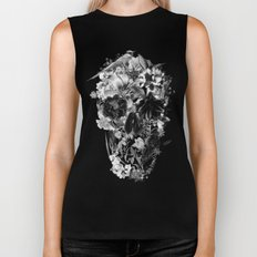 New Skull Light B&W Biker Tank