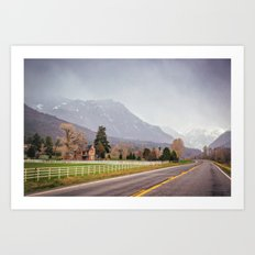 Road to the San Juan Mountains Art Print