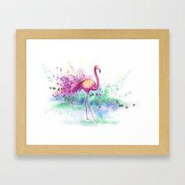 Messy Flamingo Framed Art Print