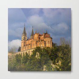Basilica of Santa Maria la Real of Covadonga Metal Print