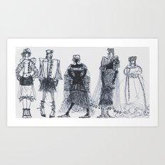 Fashion Doodle #12 Art Print