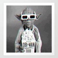 yoda Art Prints featuring Yoda by Iotara