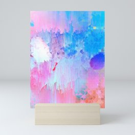 Abstract Candy Glitch - Pink, Blue and Ultra violet #abstractart #glitch Mini Art Print