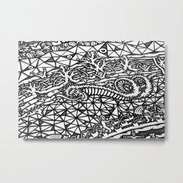 Mandala Dante Inferno Detail 5 Metal Print