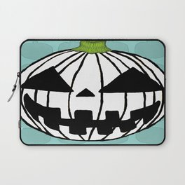White Pumpkin Jack O Lantern  Laptop Sleeve