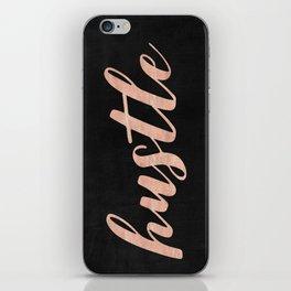 Hustle Rose Gold Pink on Black iPhone Skin