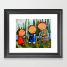 Mushrooming Framed Art Print