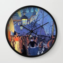 Avenue De Clichy, Five Hour In The Evening - Louis Anquetin Wall Clock