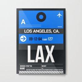 LAX Los Angeles Luggage Tag 3 Metal Print